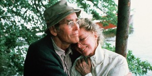 Henry Fonda and Katharine Hepburn in On Golden Pond