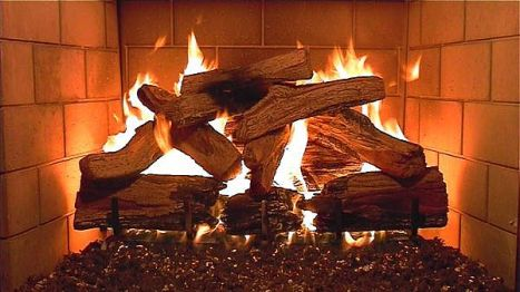 a fireplace-