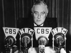 FDR delivers Fireside Chat