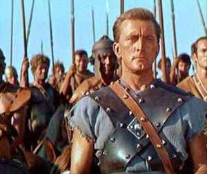 Kirk Douglas starred in the movie Spartacus