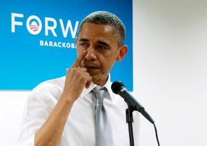President Obama cries thanking his campaign staff
