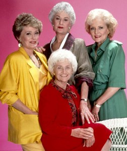 Blanche (in yellow) and the Golden Girls