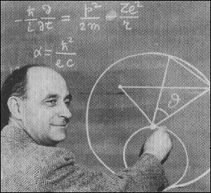 Enrico Fermi teaching a class