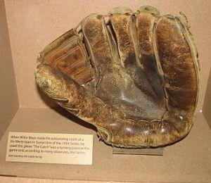 Willie Mays glove. Circa 1954