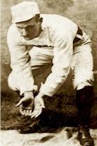 Barehanded baseball fielder circa 1880