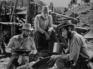 Panning for gold in the movie Treasure from Sierra Madre