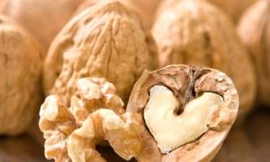 Heart-Shaped Walnut half